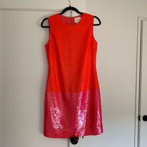 kate spade corblock sequin dress sz 4